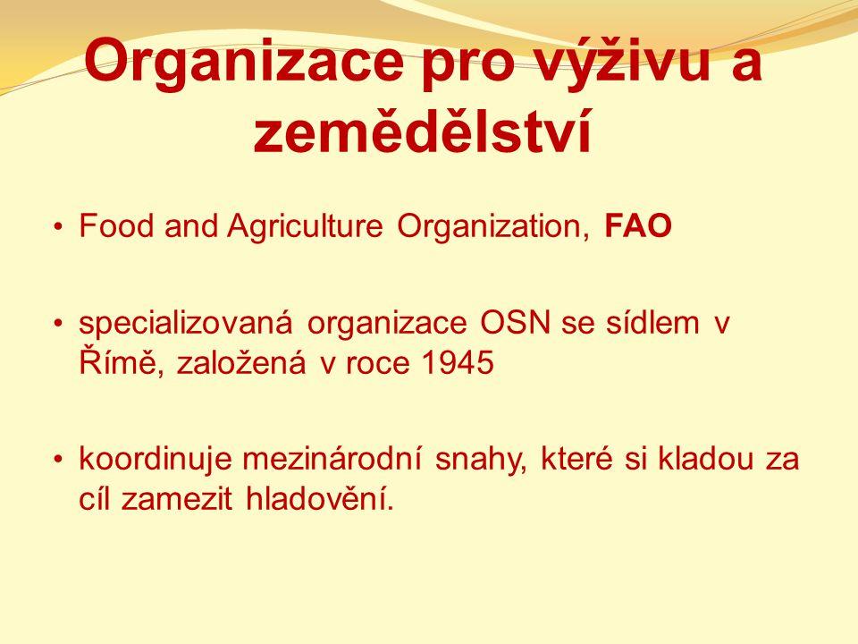 Organizace pro výživu a zemědělství