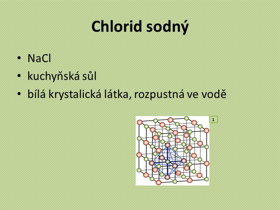 Chlorid sodný NaCl kuchyňská sůl