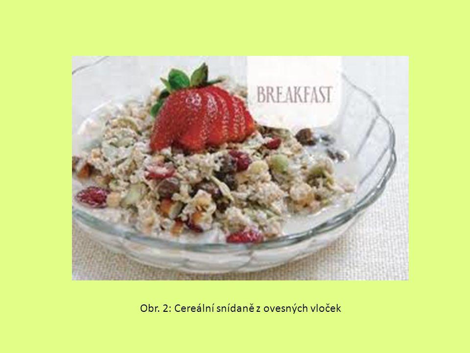 Obr. 2: Cereální snídaně z ovesných vloček
