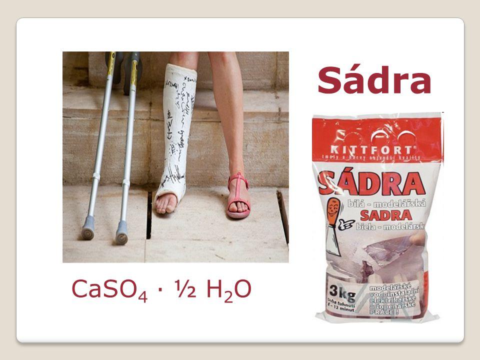 Sádra CaSO4 · ½ H2O