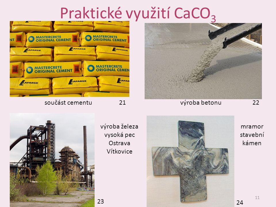 Praktické využití CaCO3