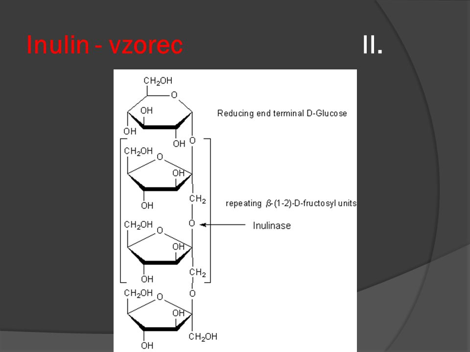 Inulin - vzorec II.
