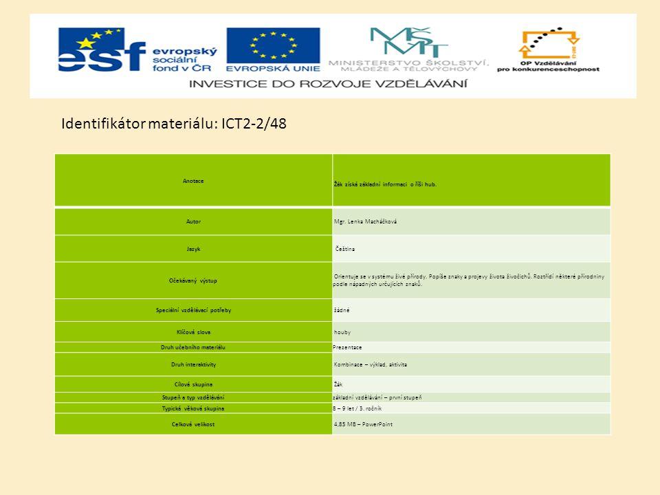 Identifikátor materiálu: ICT2-2/48
