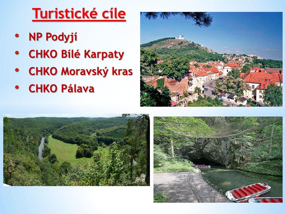 Turistické cíle NP Podyjí CHKO Bílé Karpaty CHKO Moravský kras