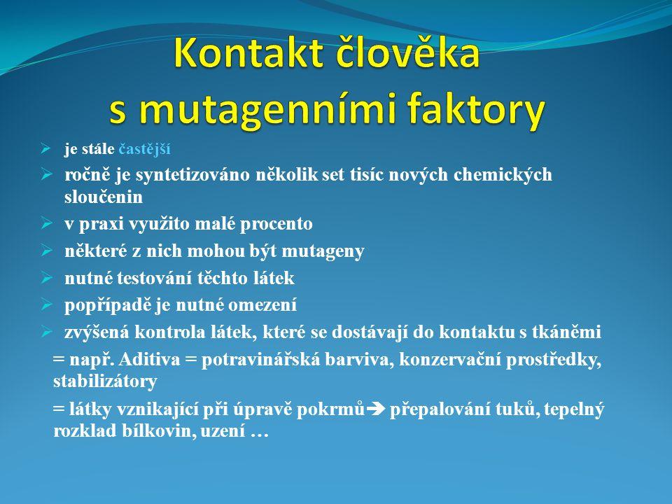 Kontakt člověka s mutagenními faktory