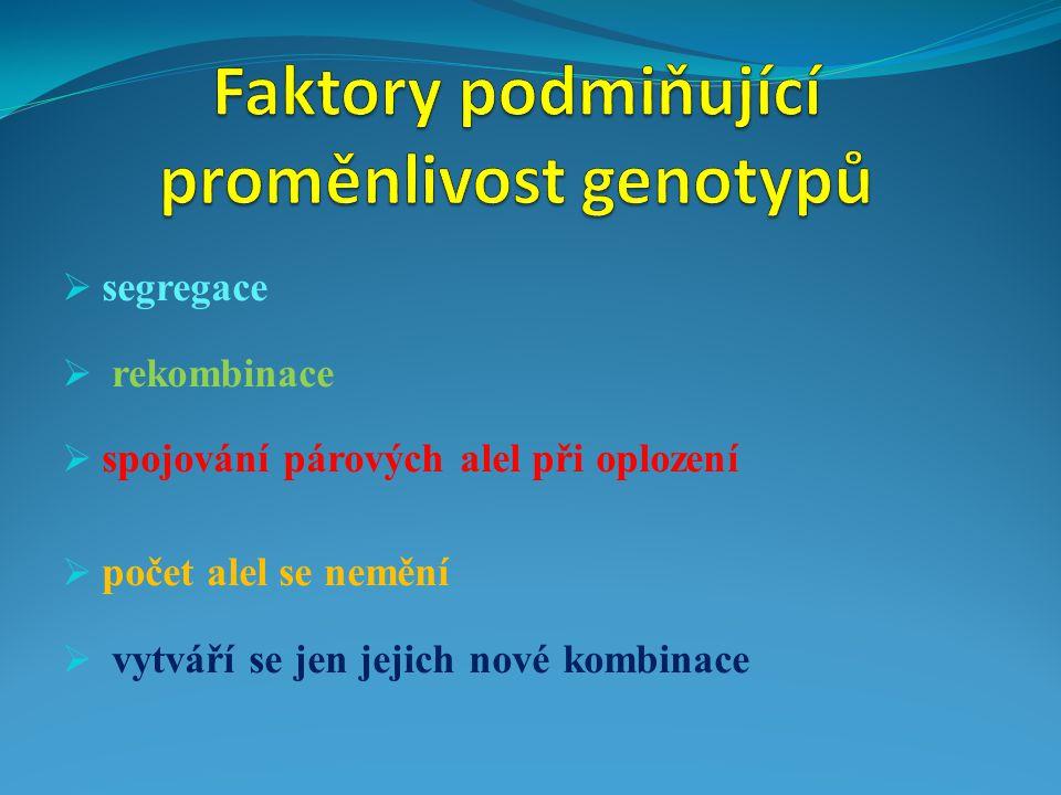Faktory podmiňující proměnlivost genotypů