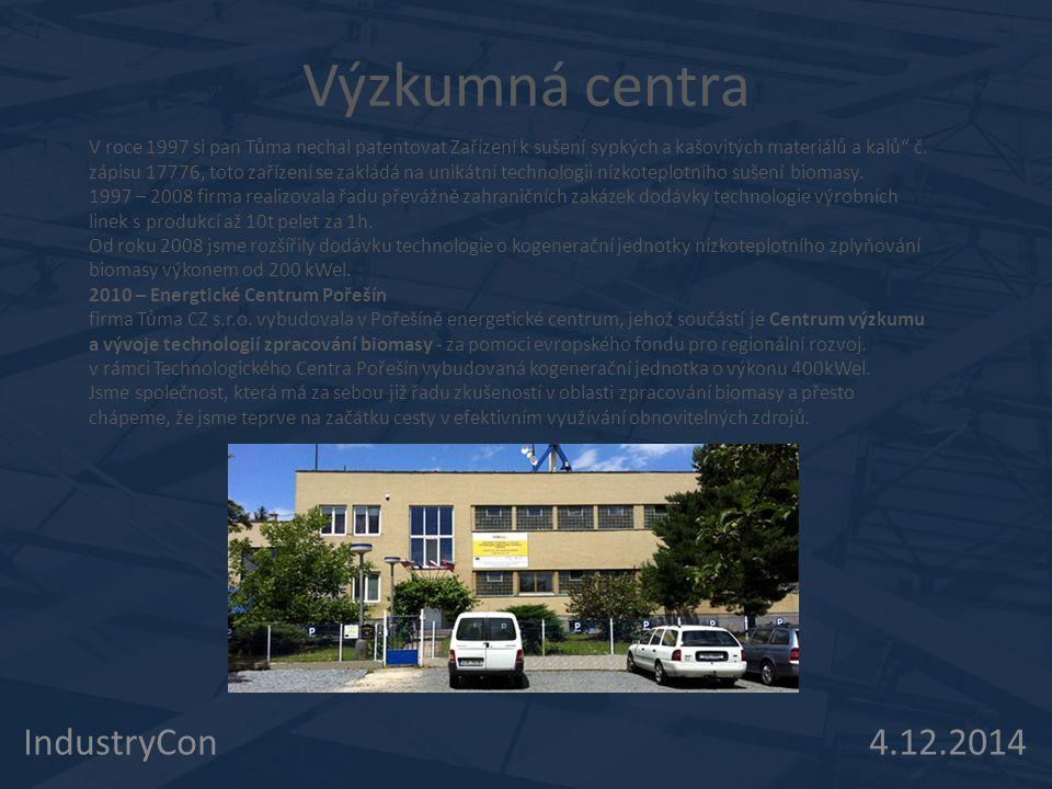 Výzkumná centra IndustryCon 4.12.2014