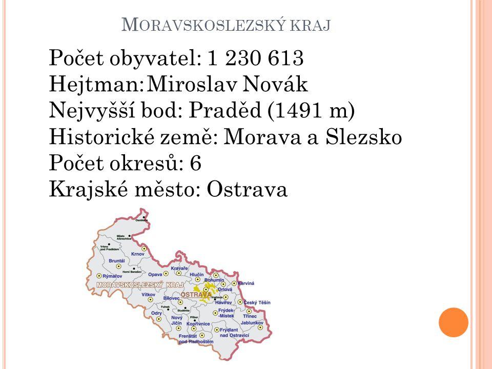 Hejtman: Miroslav Novák Nejvyšší bod: Praděd (1491 m)