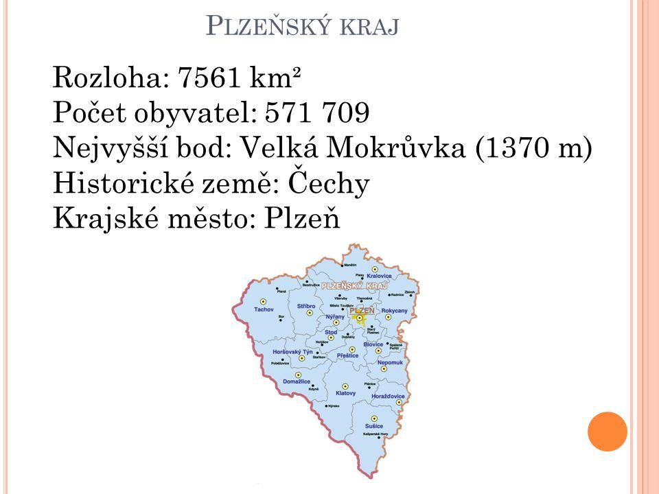 Nejvyšší bod: Velká Mokrůvka (1370 m) Historické země: Čechy