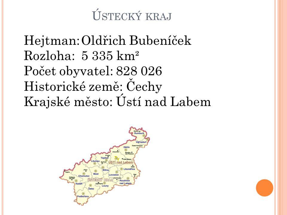 Hejtman: Oldřich Bubeníček Rozloha: 5 335 km² Počet obyvatel: 828 026