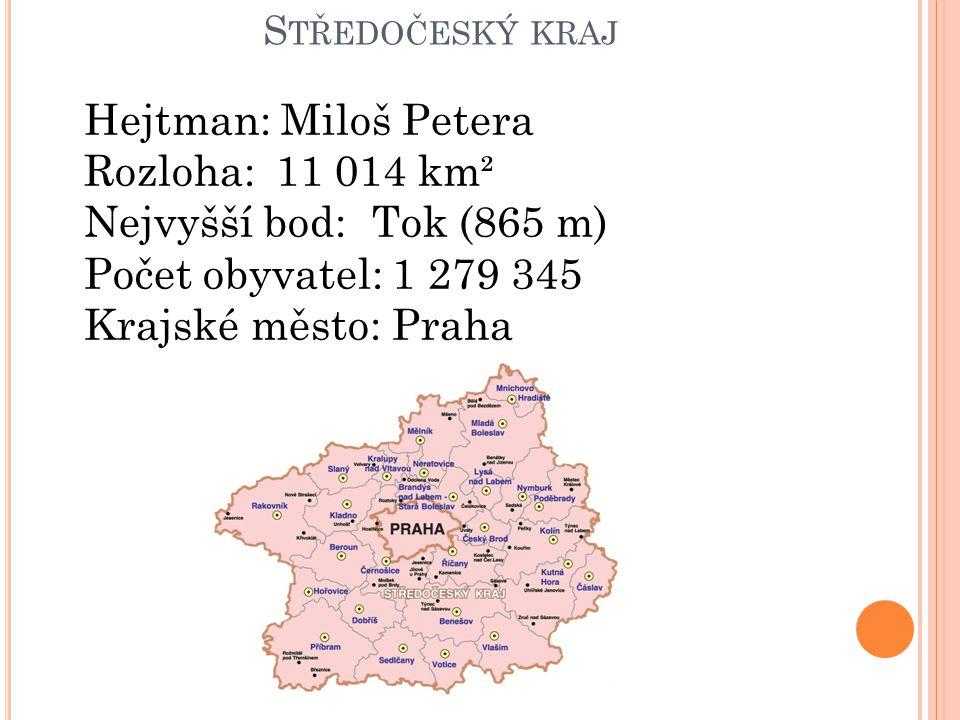 Hejtman: Miloš Petera Rozloha: 11 014 km² Nejvyšší bod: Tok (865 m)