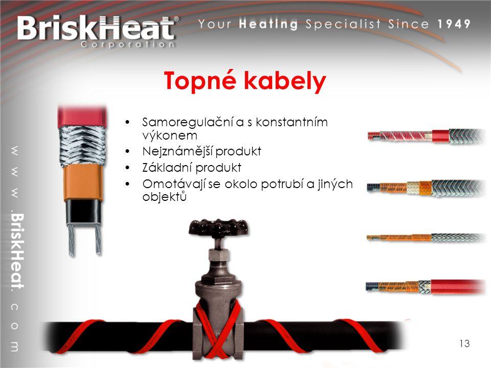 Topné kabely Samoregulační a s konstantním výkonem Nejznámější produkt