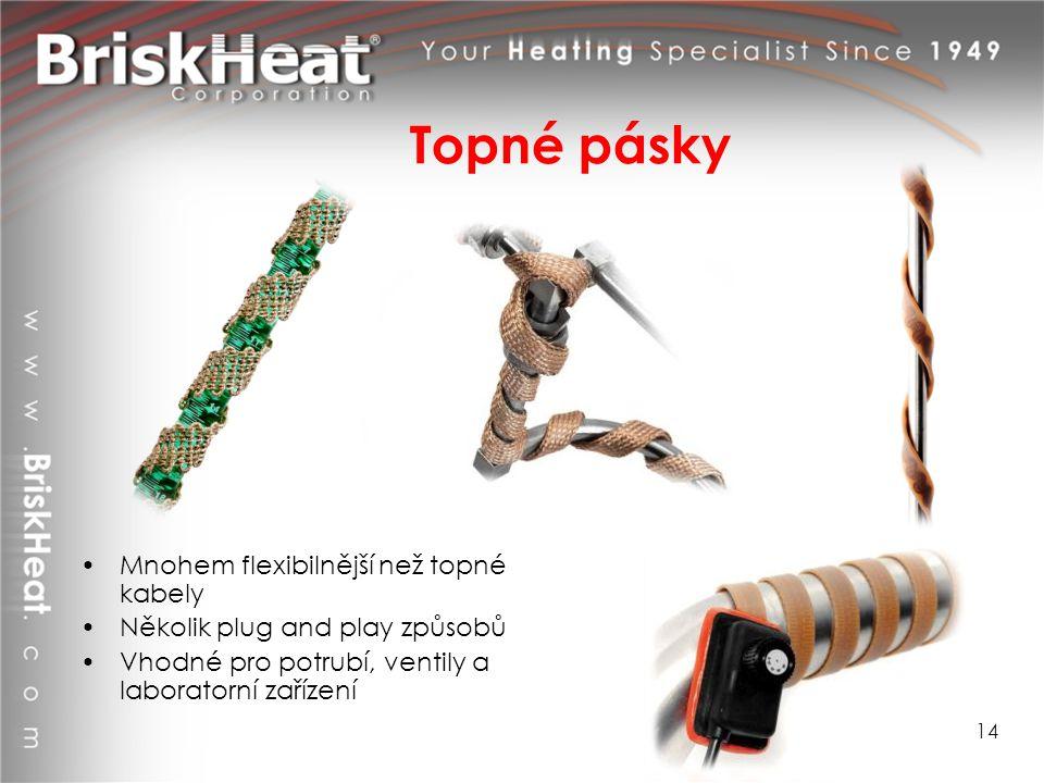 Topné pásky Mnohem flexibilnější než topné kabely