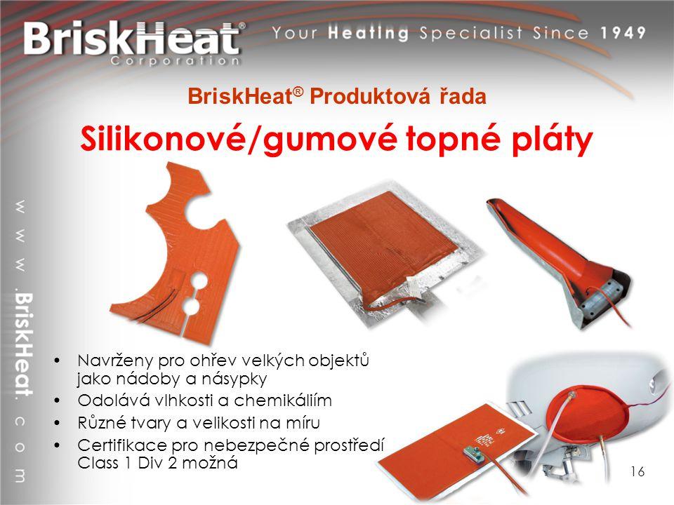 Silikonové/gumové topné pláty