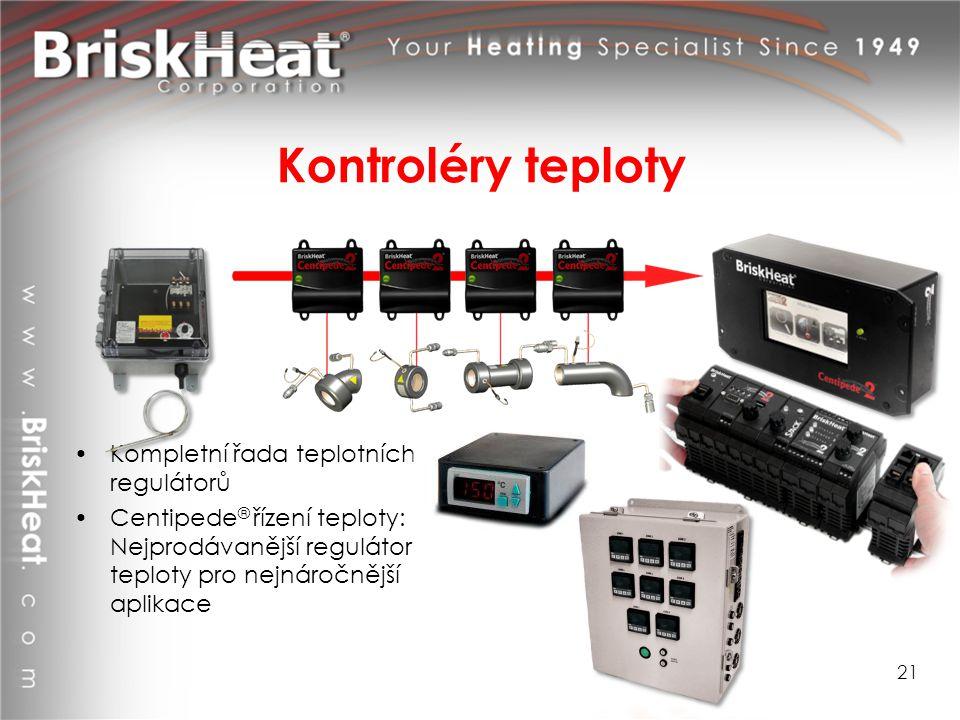 Kontroléry teploty Kompletní řada teplotních regulátorů