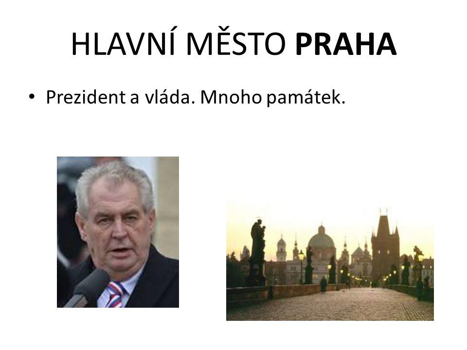 HLAVNÍ MĚSTO PRAHA Prezident a vláda. Mnoho památek.