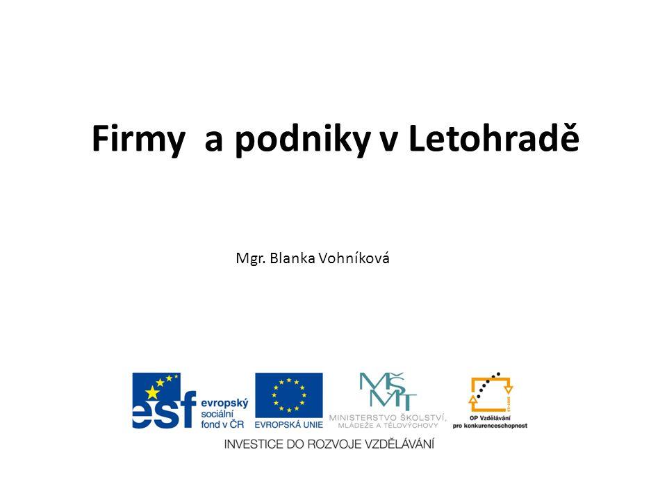 Firmy a podniky v Letohradě