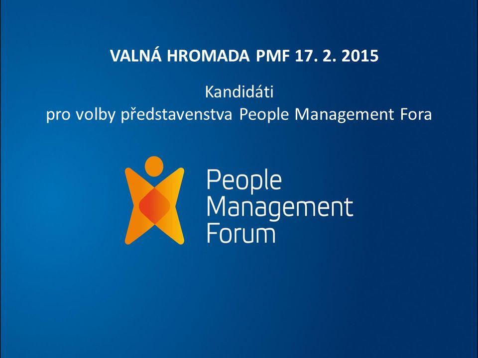 Kandidáti pro volby představenstva People Management Fora