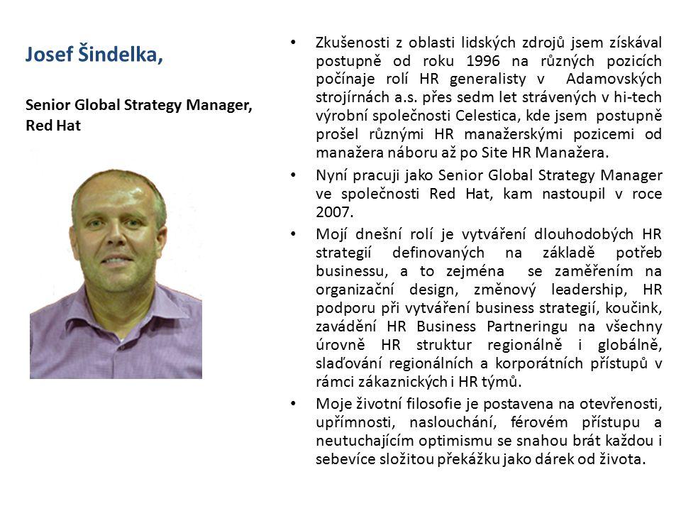 Josef Šindelka, Senior Global Strategy Manager, Red Hat