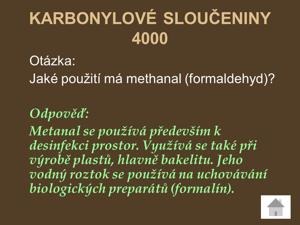 KARBONYLOVÉ SLOUČENINY 4000