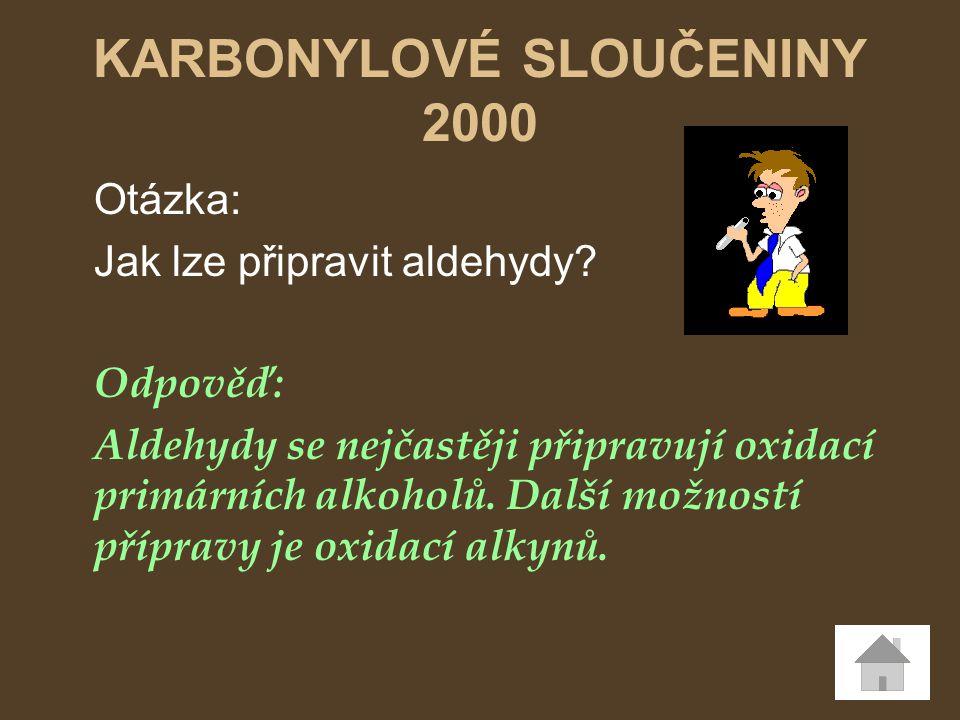 KARBONYLOVÉ SLOUČENINY 2000