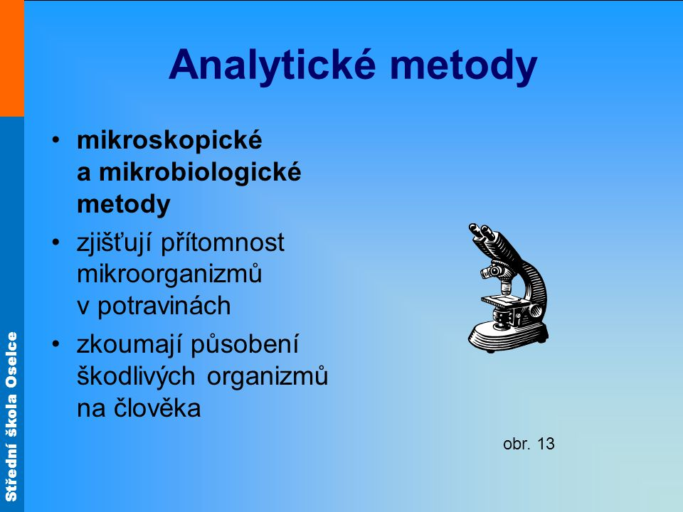 Analytické metody mikroskopické a mikrobiologické metody