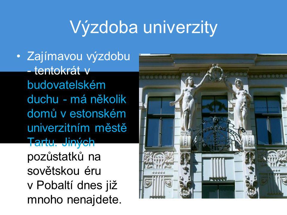 Výzdoba univerzity