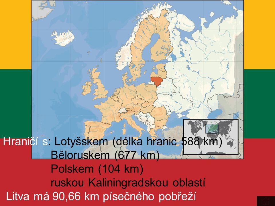 Hraničí s: Lotyšskem (délka hranic 588 km)