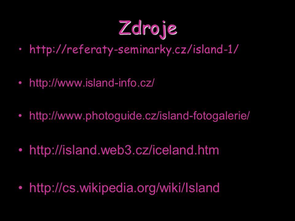 Zdroje http://island.web3.cz/iceland.htm