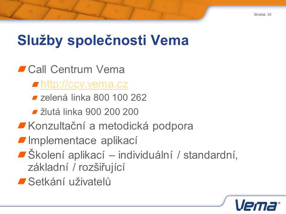 Služby společnosti Vema