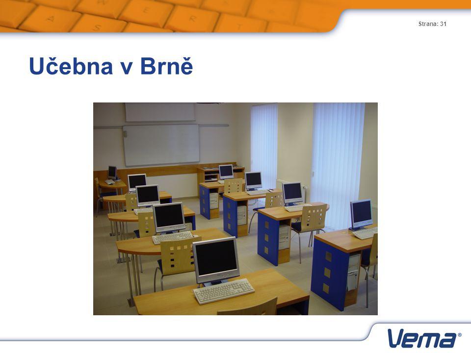 Učebna v Brně