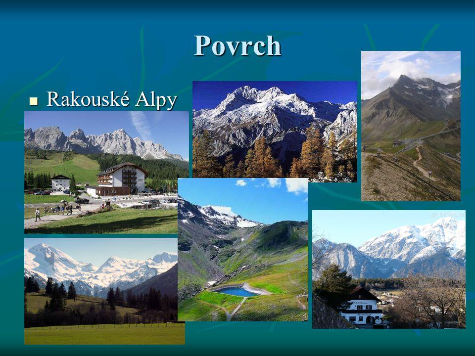Povrch Rakouské Alpy