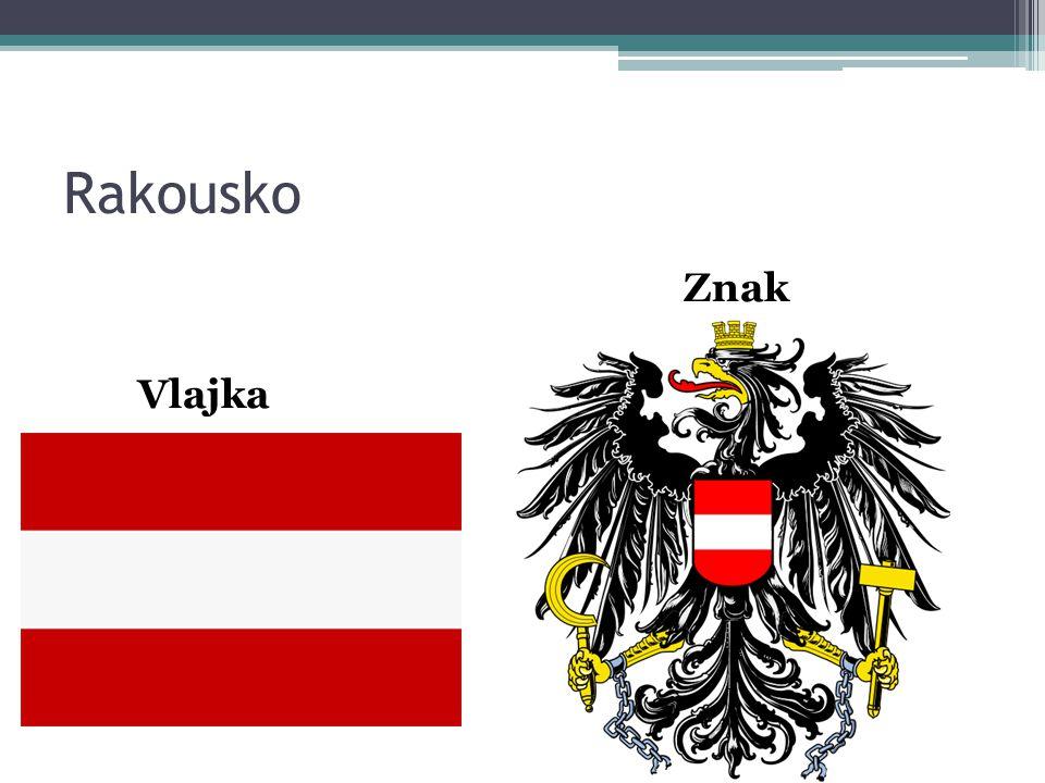 Rakousko Znak Vlajka