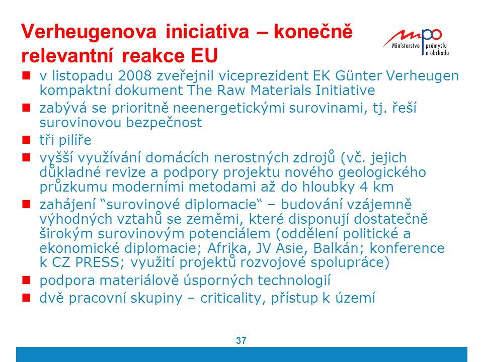 Verheugenova iniciativa – konečně relevantní reakce EU