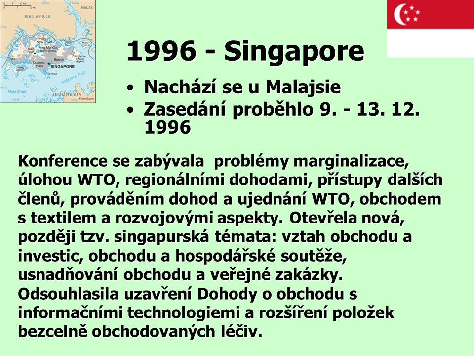 1996 - Singapore Nachází se u Malajsie