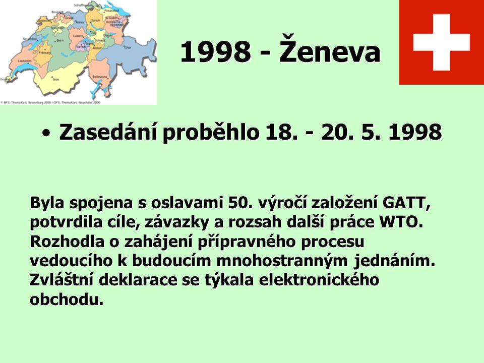 1998 - Ženeva Zasedání proběhlo 18. - 20. 5. 1998