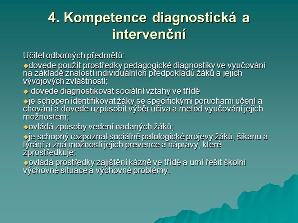 4. Kompetence diagnostická a intervenční