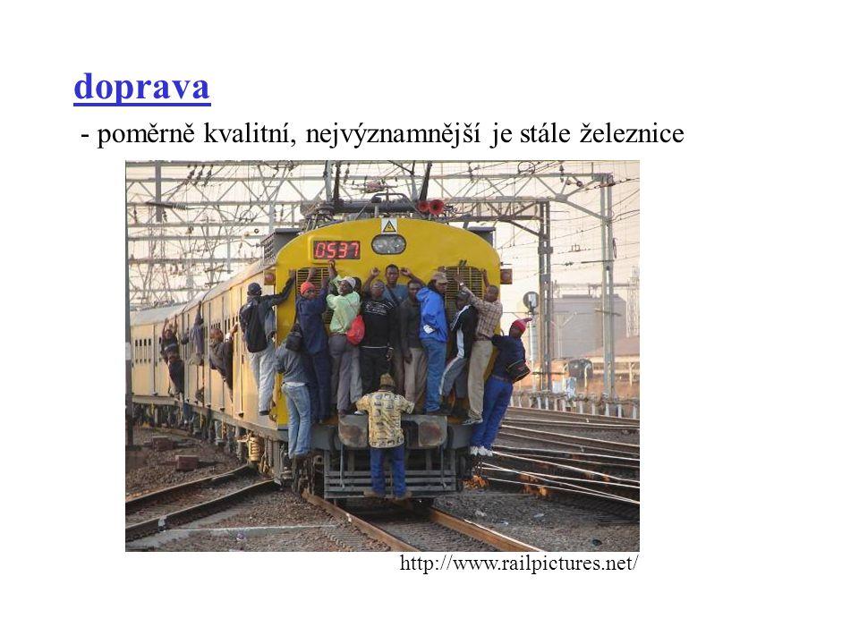 doprava - poměrně kvalitní, nejvýznamnější je stále železnice
