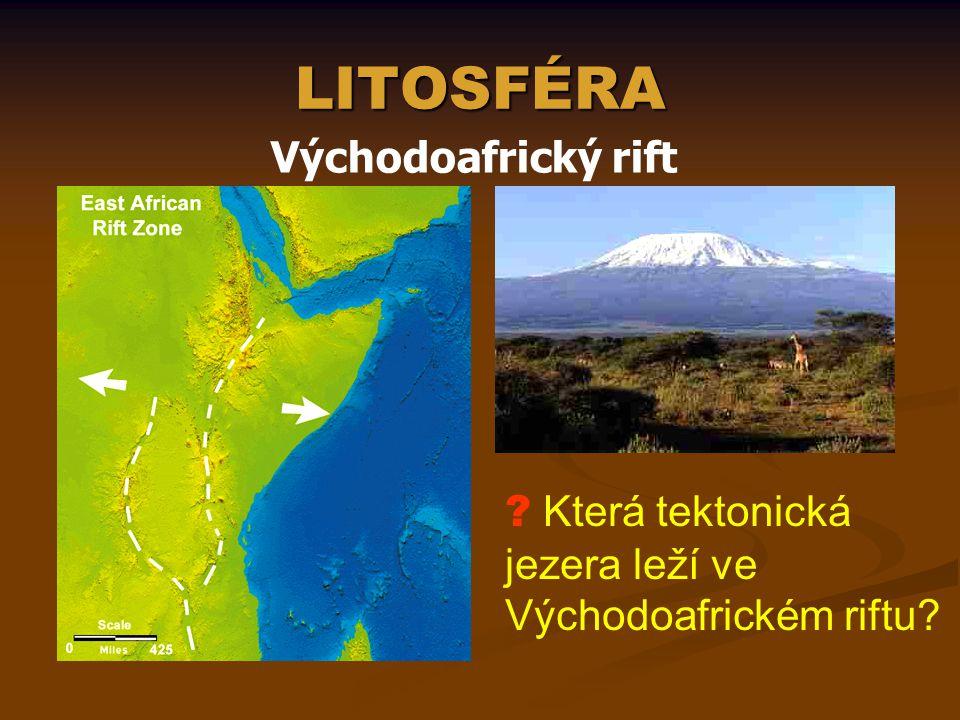 LITOSFÉRA Východoafrický rift
