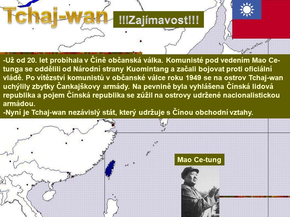 Tchaj-wan !!!Zajímavost!!!