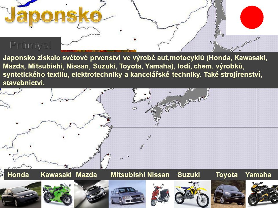 Japonsko Průmysl.