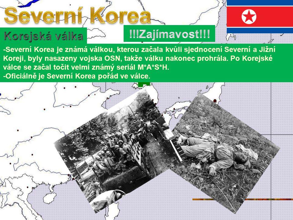 Severní Korea !!!Zajímavost!!! Korejská válka