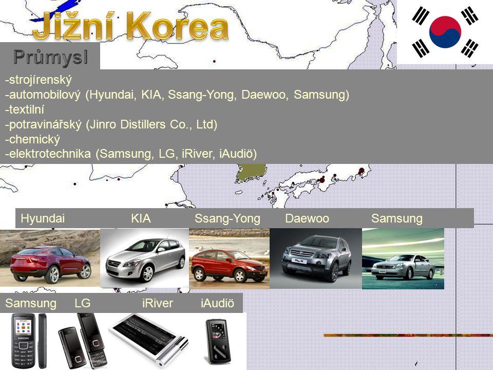 Jižní Korea Průmysl -strojírenský