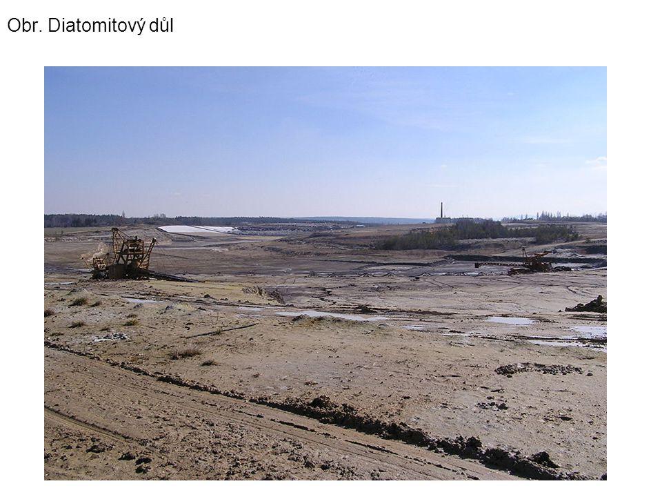 Obr. Diatomitový důl
