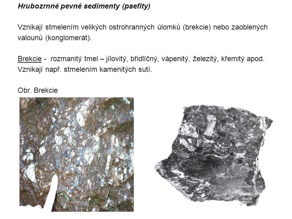 Hrubozrnné pevné sedimenty (psefity)