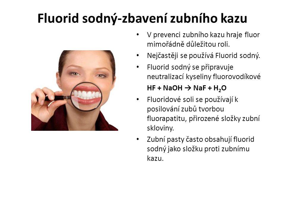 Fluorid sodný-zbavení zubního kazu