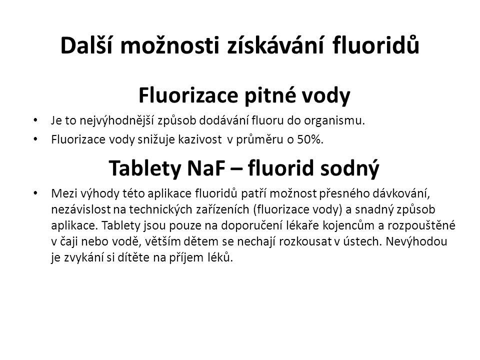 Další možnosti získávání fluoridů