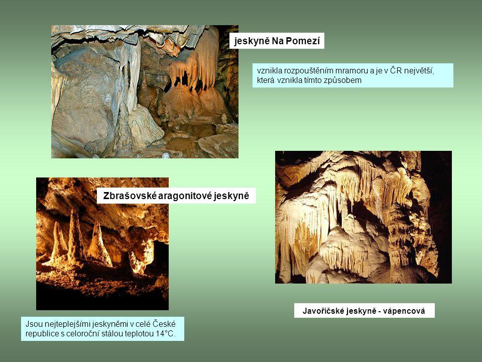 Zbrašovské aragonitové jeskyně Javoříčské jeskyně - vápencová