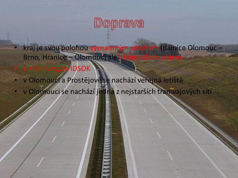 Doprava kraj je svou polohou významným silničním (dálnice Olomouc – Brno, Hranice – Olomouc) ale i železničním uzlem.