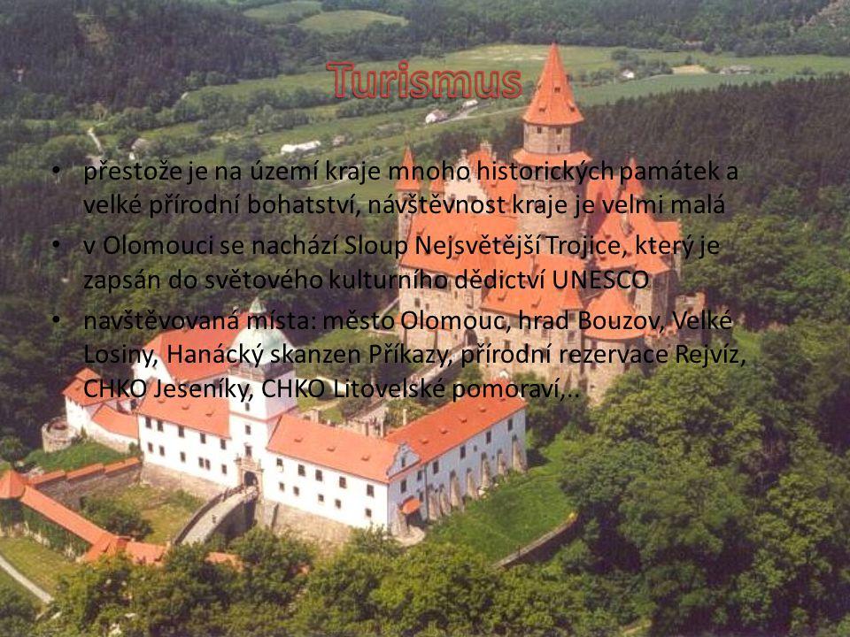 Turismus přestože je na území kraje mnoho historických památek a velké přírodní bohatství, návštěvnost kraje je velmi malá.